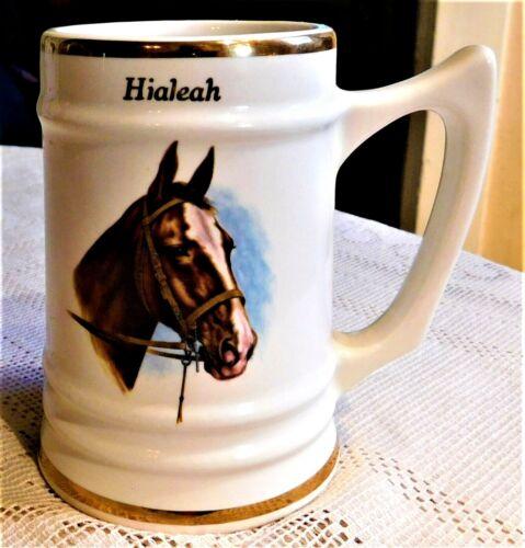 VINTAGE HIALEAH HORSE DRINKWARE TANKARD MUG STEIN