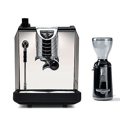 Nuova Simonelli Oscar 2 Coffee Espresso Machine Grinta Grinder Set 220v Black