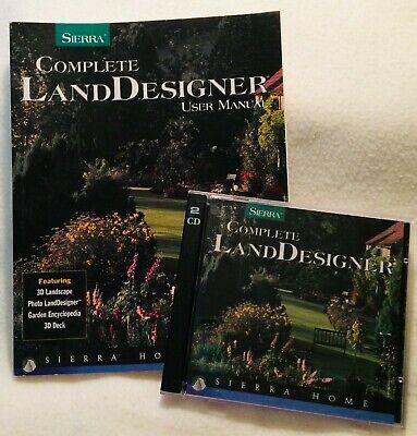 Sierra Complete Land Designer Manual Book & CD Landscaping Garden Deck Planning Landscaping Deck Designer
