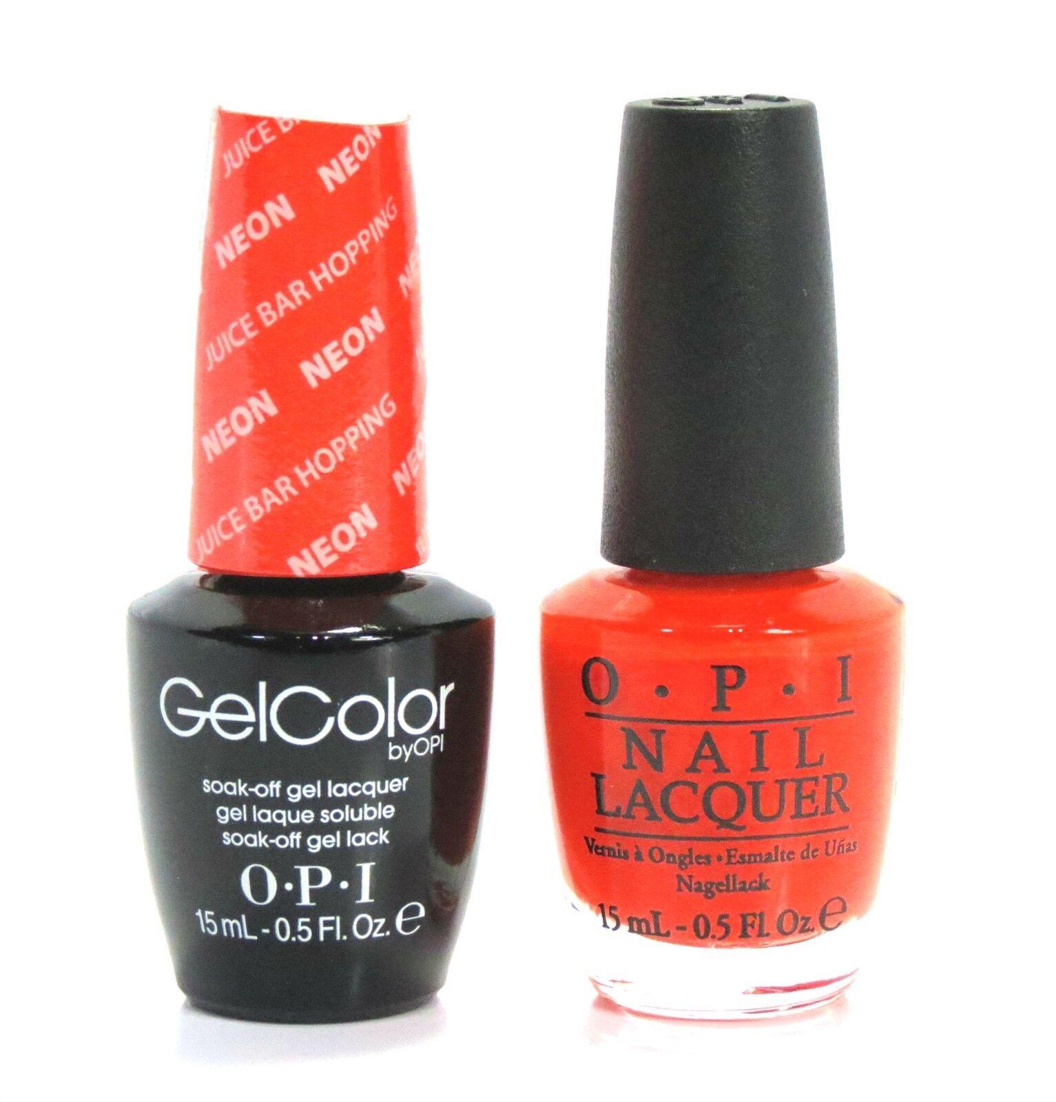 Laquer Nail Bar: Opi Soak-Off GelColor Gel Polish + Nail Polish Neon Juice