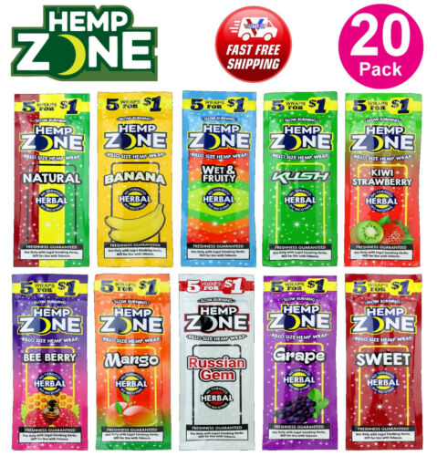 H. Zone Organic Wrap Variety Pack 20 Pouches, 5 Per Pouch - 100 Wraps Total