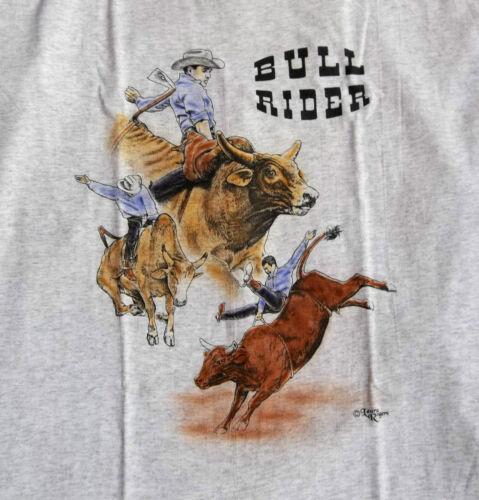 """Bull Rider T-shirt  """" Natural """" MED ( 38 ~ 40 )"""