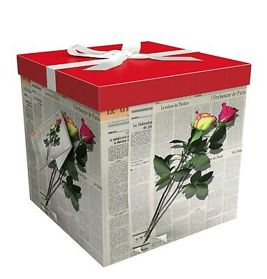 Gift Box - Large Gift Boxes with Lids - Les Roses - - Large Gift Boxes With Lids