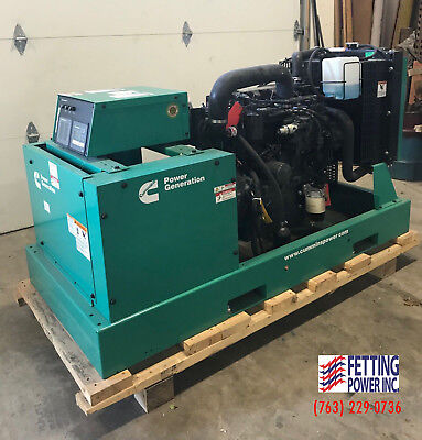 New 25kw Cummins Diesel Standby Generator Dskca Sn F150835774