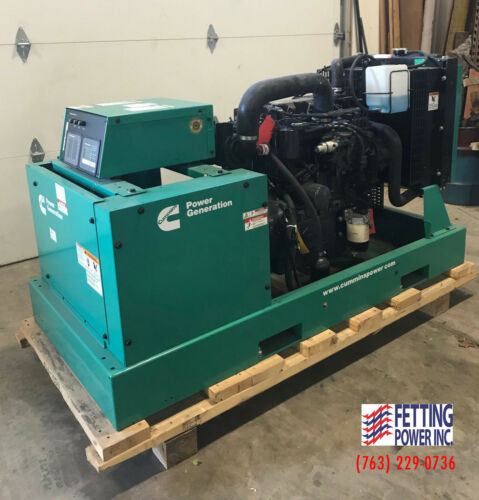 New 25kW Cummins Diesel Standby Generator DSKCA | S/N: F150835774