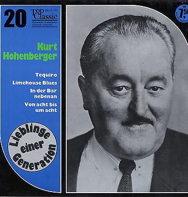 LP  Kurt Hohenberger - Tequiro, Limehouse Blues, In der Bar nebenan, u. a. m.
