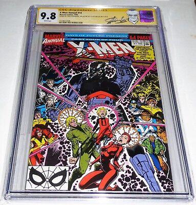 X-Men Annual #14 3x CGC SS Signature Autograph STAN & JIM LEE CHRIS CLAREMONT