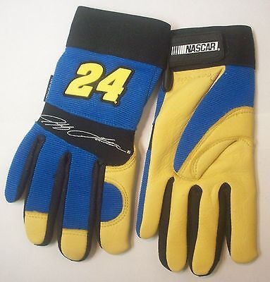 Nascar Series Jeff Gordon 24 Deerskin Leather Work Driving Gloves - Size Small