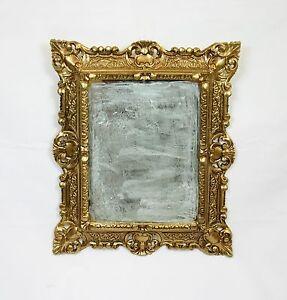 Specchio dorato specchiera oro in stile barocco finto - Specchio ovale vintage ...