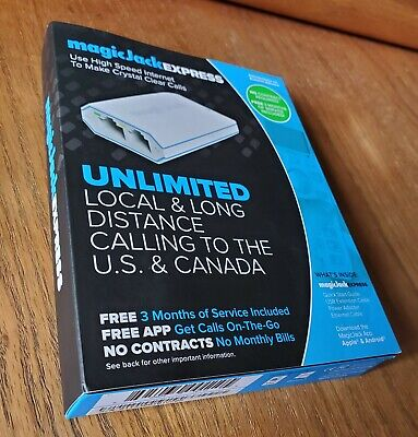 🔥NEW magicJack EXPRESS Digital Phone VoIP Service Includes 3 Months of Service