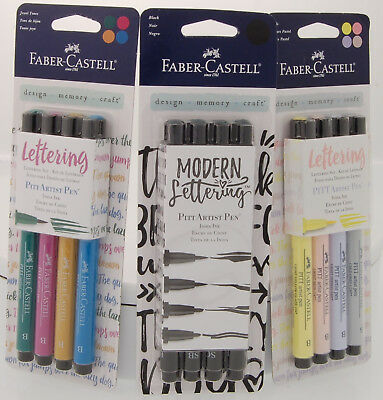 Faber Castell Lettering Artist Pen 4pc set - Multiple Assortments - Your Choice