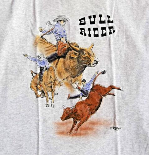 """Bull Rider T- shirt  """" Natural """" LG ( 42 ~ 44 )"""
