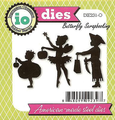 Halloween Kids Trick Or Treat Die Cutting Dies Impression Obsession DIE231-O New - Halloween Kids Trick Or Treating