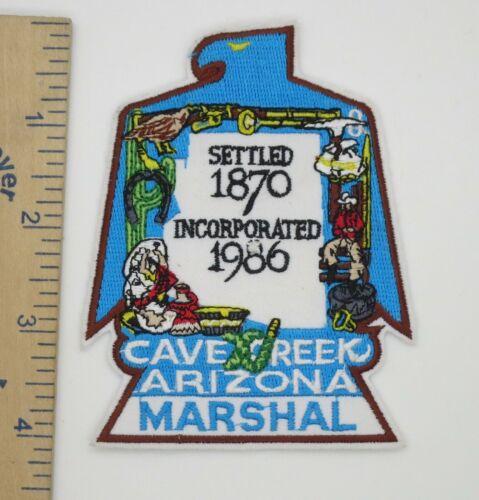 CAVE CREEK ARIZONA MARSHAL PATCH Vintage Original