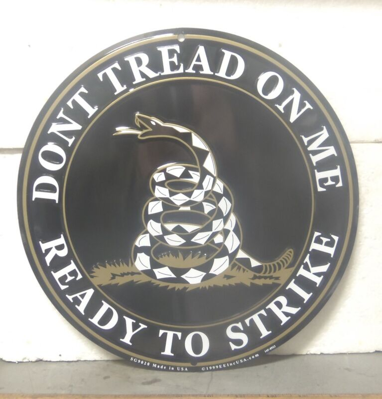 Large Don't Tread on Me – Ready to Strike Aluminum Sign
