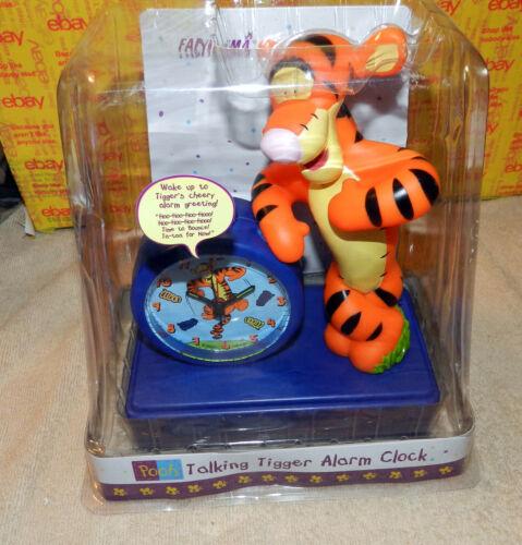 "Pooh Tigger Talking Alarm Clock Disney Fantasma 8"" Sealed Package Vintage"