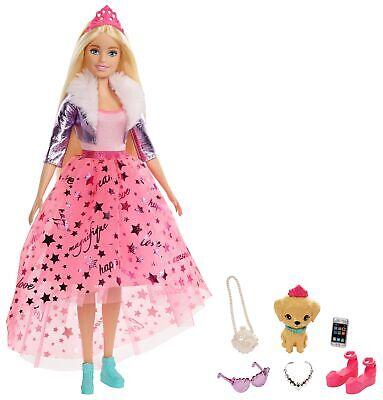 Barbie Princess Adventure Princesa Deluxe, muñeca rubia con accesorios (Matte...