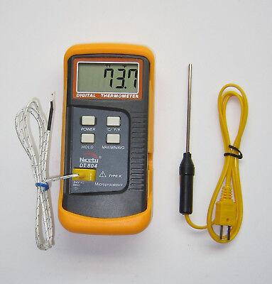 Scientific Digital Thermometer 1 K Type Thermocouple Temperature Sensor Probe