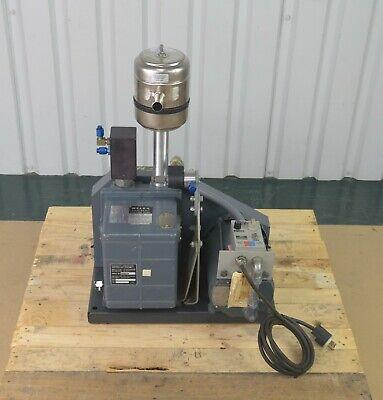 Welch 1373 Duo-seal Belt Drive Vacuum Pump Filter W Ge Motor 12 Hp 1425 Rpm