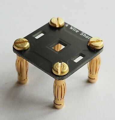 4 Wire Dmm Short Gold Plugs Pcb With Handle For Hpagilentkeithley 678 Digits