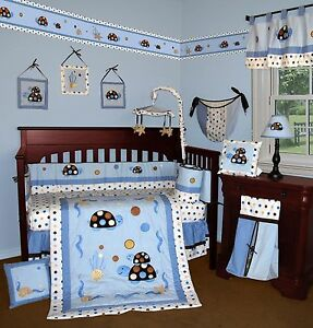 Baby Boutique Turtle Parade 13 Pcs Crib Nursery Bedding Set