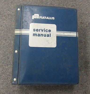 Fiat Allis 262-b 263-b Tractor Scraper Service Repair Manual Set 73116289