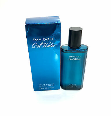 Cool Water for Men by Davidoff Eau de Toilette Spray 2.5 oz - New in Dented Box ()