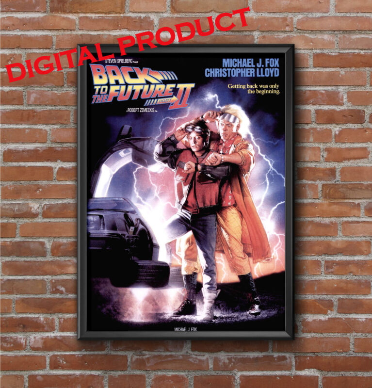 BACK TO THE FUTURE vintage printable poster set of 2 (DIGITAL) five star quality