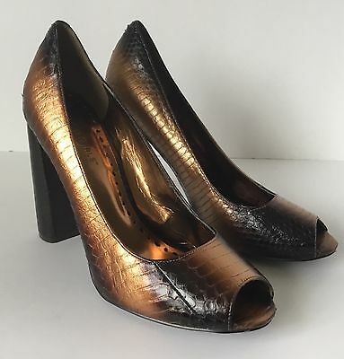BCBGirls Leather Open-toe Pumps Heels Shoes Size 8.5 Bcbgirls Open Toe Pumps