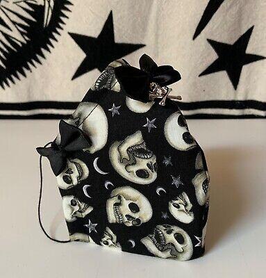 Mundschutz + Filter / Maske Atemschutz Gesichtsmaske Skull Totenkopf Gothic Goth