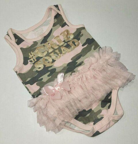 #cribsquad Camouflage Tutu Bodysuit 9-12 Months Children