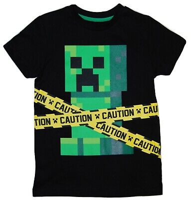 Boys Minecraft T Shirt Top Creeper Gamer Gaming Top 6 upto 12 Years
