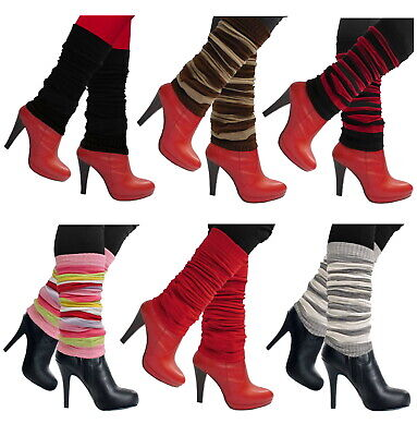LEG WARMERS KNEE HIGH FOOTLESS WINTER LONG AND