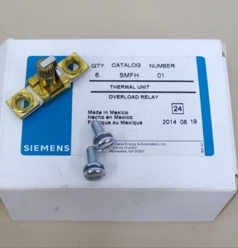 SIEMENS SMFH THERMAL UNIT OVERLOAD RELAY 6 PCS