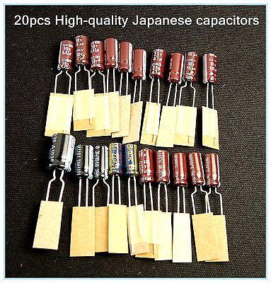 Sega Game Gear 20 Capacitors Repair Kit Fix Sound & Dim Screen USA Shipping