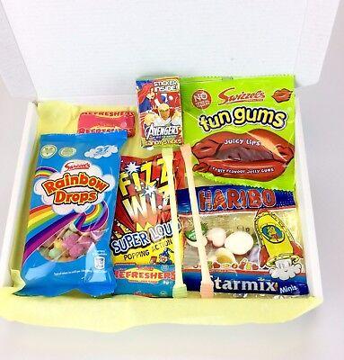 Sweet Hamper Gift Box Retro Treats Present Birthday Cheap Party Candy Christmas - Cheap Xmas Gift Boxes