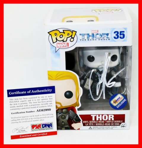 RARE Chris Hemsworth Signed Thor Autographed Gemini Exclusive Funko POP PSA JSA