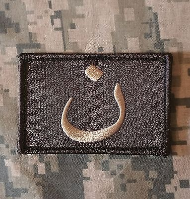 CHRISTIAN ARABIC SYMBOL CRUSADER TACTICAL USA ARMY ACU LIGHT HOOK MORALE PATCH