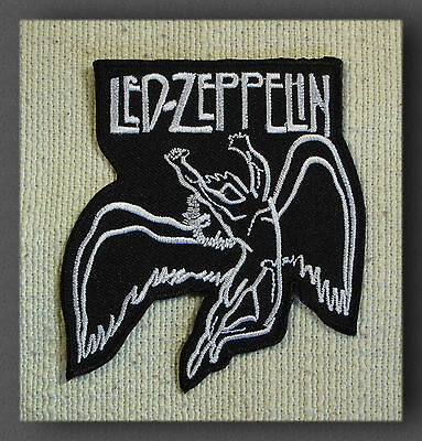 LED ZEPPELIN Black Embroidered Iron On Sew On Patch  Rock Band