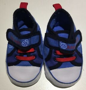 Cookie Monster Blue Red and White Infant Size 2 Soft Sole Shoes Bentleigh East Glen Eira Area Preview