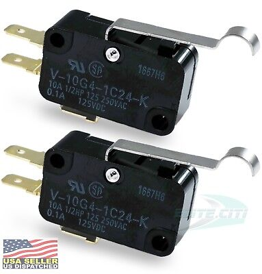 Omron V-10g4-1c24-k Spdt 10a 250v Microswitch Quick Connect Pack Of 2