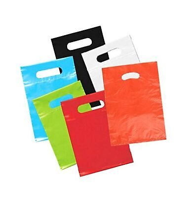 Playo Die Cut Plastic Bags - Party Favor Shopping Bags with Handles 50 Ct (As...