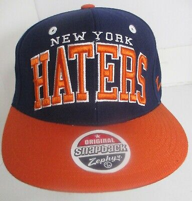 New York Haters Hat Cap Snapback Zephyr Brand Embroidery Wool Blend