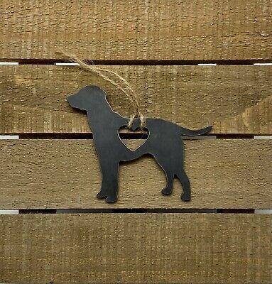 Labrador Retriever heart Metal Ornament Heart Raw Steel ornament tree decoration