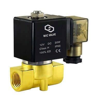 38 Direct Acting Fast Response Brass Electric Solenoid Process Valve 12v Dc