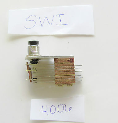 Switchcraft 4006 5a 125v Dpdt Non Locking Pushbutton Nf Switch Nos