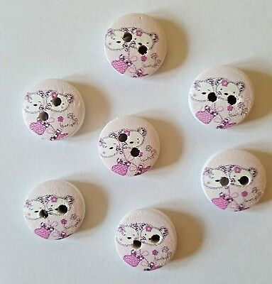 Cute Pussy Cat & Teddy Bear Buttons Size 15mm - Ideal for  Baby/Children's Knits - Teddy Bear Costumes For Kids