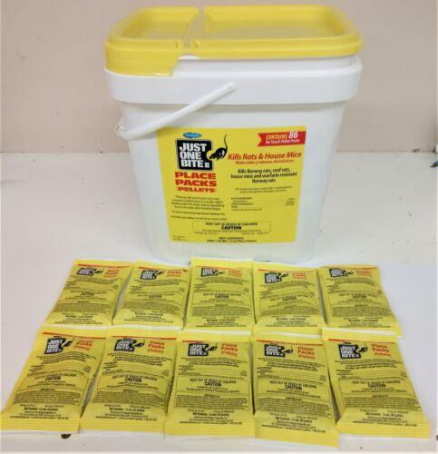 Just One Bite II Pellet Packs 10 packs 1.5 oz packs Rat & Mouse Poison Bait