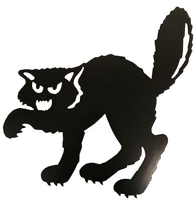 Halloween Cat Silhouette Cut Out Decoration - Halloween Cat Silhouette