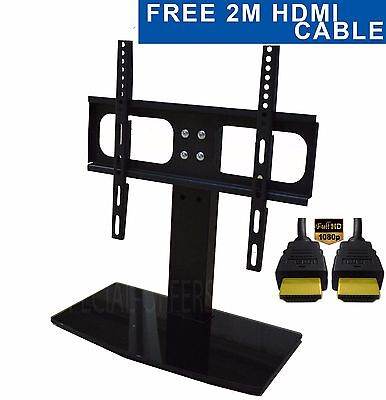 FREE HDMI CABLE Replacement Table Top MIni TV Stand Bracket 28 30 32 37 40 42